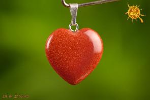 Piasek Pustyni serduszko wisior 2x2 cm - miłość, pojednanie, czakra serca