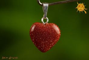 Piasek Pustyni serduszko wisior MINI 1,5x1,5 cm - miłość, pojednanie, czakra serca
