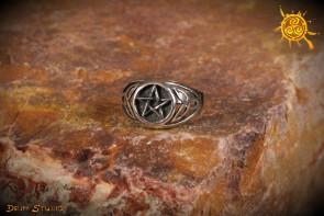 Pierścionek Pierścień Pentagram 22  - ochrona energetyczna, zdrowie