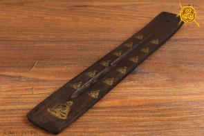 Podstawka pod kadzidełka drewniana symbol Budda