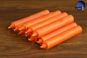Pomarańczowa świeca KOMPLET 10 świec 10x1,8cm - dążenie do obranego celu, wspaniałe pomysły, ruch