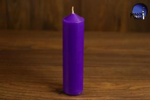 Purpurowa Świeca rozmiar L - wzmacnia aurę i działanie egzorcyzmów, oczyszcza