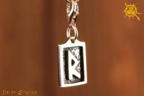 Runa RAIDO przywieszka charms srebro - podróż, zmiana, rytm, otwartość