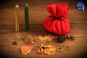 Sakiewka Bezpieczeństwa Materialnego Czerwona RYTUAŁ BOGACTWA