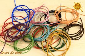 Rzemyk skórzany kolorowy mix kolorów - wybierz kolor rzemyka