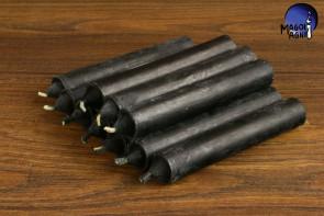 Czarna świeca KOMPLET 10 świec 10x1,8cm - chroni przed wampiryzmem energetycznym, oczyszcza, absorbuje