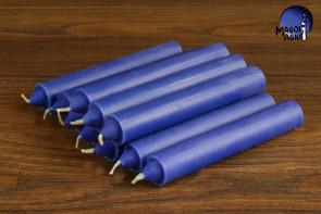 Niebieska świeca KOMPLET 10 świec 10x1,8cm - pozbycie się nałogów, wierność, harmonia w domu