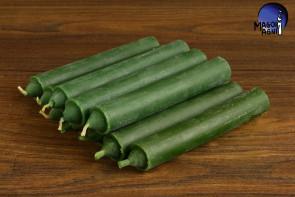 Zielona świeca KOMPLET 10 świec 10x1,8cm - uzdrowienie, spokój, pieniądze, płodność