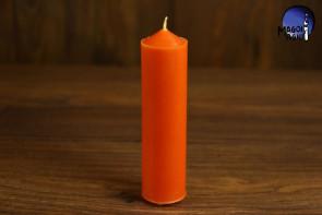 Pomarańczowa Świeca rozmiar L - dążenie do obranego celu, wspaniałe pomysły, ruch