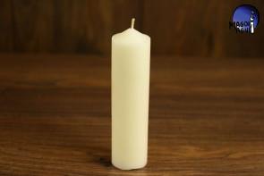 Biała Świeca rozmiar L - podnoszenie wibracji, równoważenie aury, ochrona