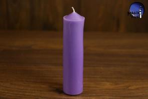 Fioletowa Świeca rozmiar L - mistycyzm, zdejmowanie uroku, poczucie własnej wartości