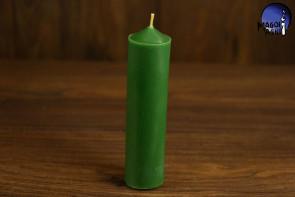 Zielona Świeca rozmiar L - uzdrowienie, spokój, podwyżka, płodność, harmonia