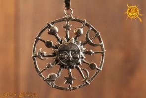 Planety Wisior srebro – zadowolenie, pewność siebie, siła, zdrowie