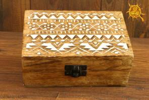 Pudełko drewniane wzór słowiański - do przechowywania magicznych przedmiotów