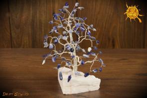 Drzewko szczęścia Sodalit 100 kamieni naturalnych - koncentracja, zapamiętywanie, intuicja, opanowanie emocji