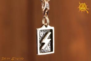 Runa SOWILO przywieszka charms srebro - energia, optymizm, sukces