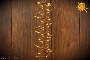 Spirala DNA miedź pozłacana - oczyszcza pomieszczenie z negatywnej energii