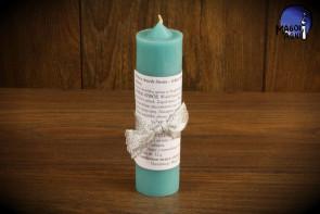 Błękitna Świeca ANIOŁ STRÓŻ - zapach fiołków