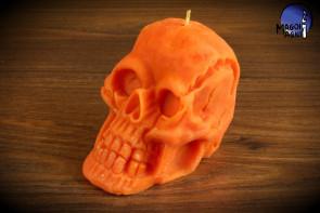 Pomarańczowa Świeca Czaszka - celtyckie święto SAMHAIN, amerykańskie HALLOWEEN  i nasze Święto Zmarłych DZIADY, połączenie się z przodkami, wróżby