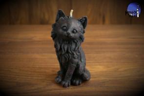Czarna Świeca Kot - odpędzenie nieszczęścia, uroków i złego fatum