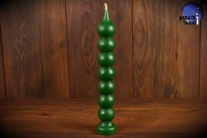Zielona Świeca Siedem Węzłów Kulkowa Gałkowa Marzeń - dostatek, uzdrawianie