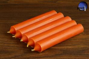 Pomarańczowa świeca KOMPLET 5 świec 10x1,8cm - dążenie do obranego celu, wspaniałe pomysły, ruch