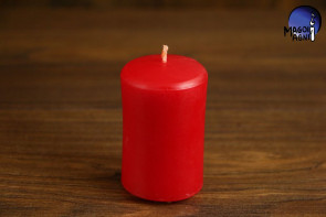 Czerwona Świeca rozmiar XL - miłość, namiętność, pewność siebie, ochrona i kreatywność
