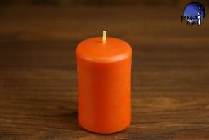 Pomarańczowa Świeca rozmiar XL - dążenie do obranego celu, wspaniałe pomysły, ruch
