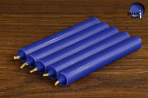 Niebieska świeca KOMPLET 5 świec 9x1,2cm - pozbycie się nałogów, wierność, harmonia w domu