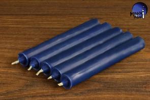 Indygo świeca KOMPLET 5 świec 9x1,2cm - pobudzi intuicję, zrównoważy karmę, uaktywni potencjał parapsychiczny