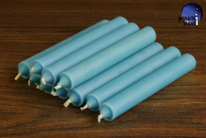 Błękitna świeca KOMPLET 10 świec 9x1,2 - dobra komunikacja, pozbycie się nałogów, wierność, dobry sen