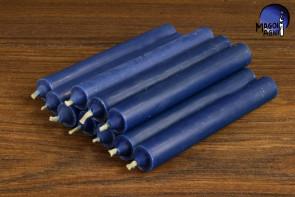 Indygo świeca KOMPLET 10 świec 9x1,2 - pobudzi intuicję, zrównoważy karmę, uaktywni potencjał parapsychiczny
