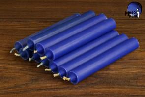 Niebieska świeca KOMPLET 10 świec 9x1,2 - pozbycie się nałogów, wierność, harmonia w domu