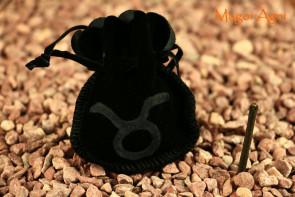Woreczek amulet talizman ZNAK ZODIAKU BYK  - ochrona, sukces, pieniądze, zdrowie