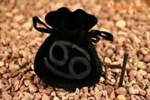 Woreczek amulet talizman ZNAK ZODIAKU RAK  - ochrona, sukces, pieniądze, zdrowie