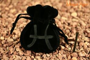 Woreczek amulet talizman ZNAK ZODIAKU RYBY - ochrona, sukces, pieniądze, zdrowie