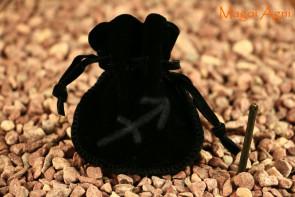 Woreczek amulet talizman ZNAK ZODIAKU STRZELEC - ochrona, sukces, pieniądze, zdrowie