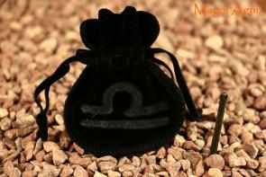 Woreczek amulet talizman ZNAK ZODIAKU WAGA  - ochrona, sukces, pieniądze, zdrowie