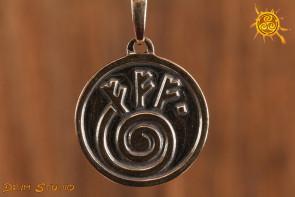 Talizman Fehu srebrny - przyciąga bogactwo, wspiera nowe działanie np. nową pracę, związek, firmę