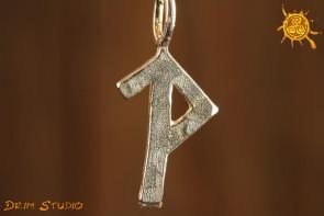 Źródło radości talizman srebro WISIOREK - podążanie właściwą drogą, ustabilizowanie Binduruna Wunjo i Tiwaz