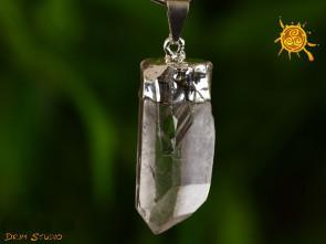 Kryształ Górski wisior oprawiony w cynę - harmonia wewnętrzna i poznanie, wzmocnienie intuicji, zdrowie