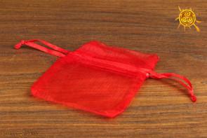 Woreczek z organzy czerwony 6x8 cm