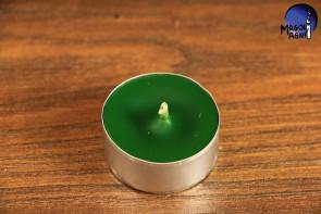 Zielona ciemno Świeca Tealight - zapach sosna