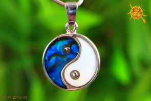 Yin Yang wisiorek Abalon Muszla  - piękno życia, harmonia, ochrona