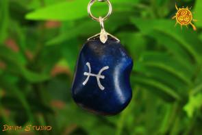 Agat wisiorek znak zodiaku RYBY - talizman, amulet dla RYB 19.02 - 20.03