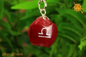 Agat wisiorek znak zodiaku WAGA - talizman, amulet dla WAGI 23.09 - 22.10