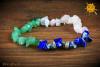 Bransoletka Zodiakalna znak zodiaku WAGA - Awenturyn, Kwarc Różowy, Lapis Lazuli