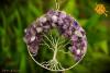 Ametyst Drzewo Życia Wisiorek miedź posrebrzana śr.7cm - spokój, intuicja, ochrona, medytacja