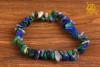 Malachit z Lapis Lazuli bransoletka wąska - dostrojenie do energii Ziemi, ochrona