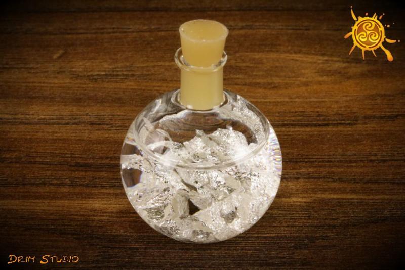 Buteleczka ze Srebrem na miłość, dobrobyt, zdrowie i szczęście